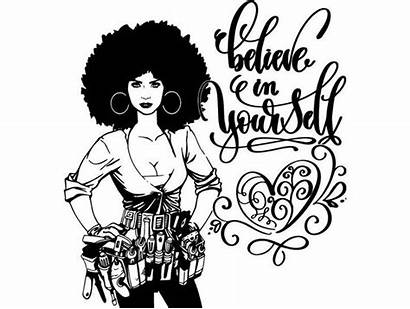 Afro Nubian Drawing Queen Handyman Woman Clipart