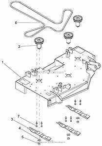 Gravely 915172  000101 -   Ztx 42 Parts Diagram For Deck  Belt  Blades And Spindles