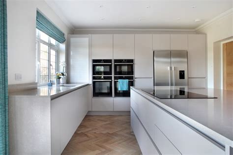 matt white true handleless kitchen kesseler kitchens