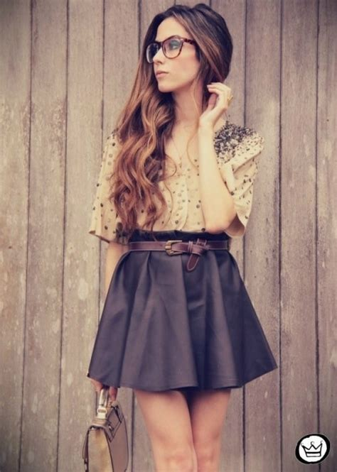 Lovely Mini Flared Skirts u00bb Celebrity Fashion Outfit Trends And Beauty Tips