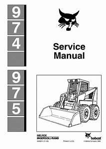 Bobcat 974  975 Skid-steer Loader Service Manual