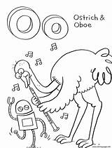 Coloring Pages Alphabet Ostrich Printable Oboe Animal Storybots Letter Bestcoloringpagesforkids Activity Sheets Activities Sheet Colouring Story Children Crafts Library Clipart sketch template
