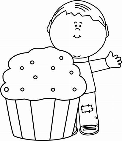 Boy Cupcake Birthday Clipart Clip Boys Coloring