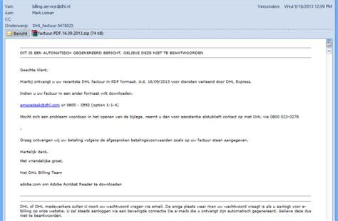 nederlandse internetter doelwit valse dhl mail securitynl