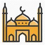 Clipart Muslim Cartoon Mosque Islam Clip Facade