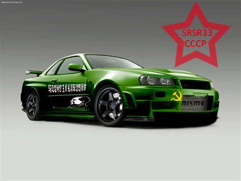 Nissan Gtr Wallpaper Green by Nissan Skyline Gtr R34 Green Wallpaper Car Wallpapers