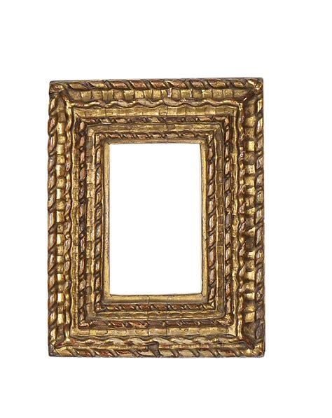 cornici intagliate insieme di tre piccole cornici intagliate e dorate xviii