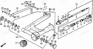 Honda Motorcycle 1983 Oem Parts Diagram For Swingarm