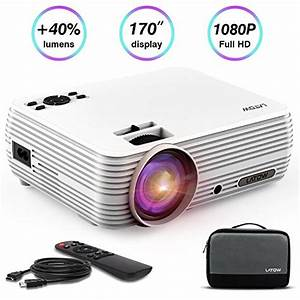Latow Mini Portable Projector With 2200 Lumens  Support Hd