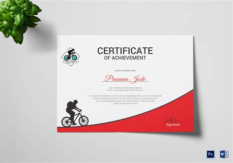 certificate   place design template  psd word