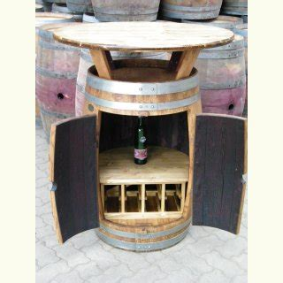 Fass Als Bar Umbauen by Bar Fass Stehtisch Mit Schrankfunktion Weinregal 8
