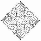 English Quilting Cottage Designs Digital Coloring Stencils Pages Mandala Continuous Medallion Celtic Snowflake Block Pattern Patterns Quiltscomplete Templates Quilt Ssq sketch template