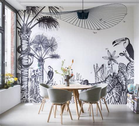 papier peint contemporain chambre papier peint design