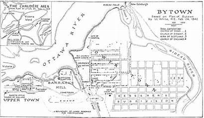 Bytown Map Ottawa Maps Fire Ontario 1870