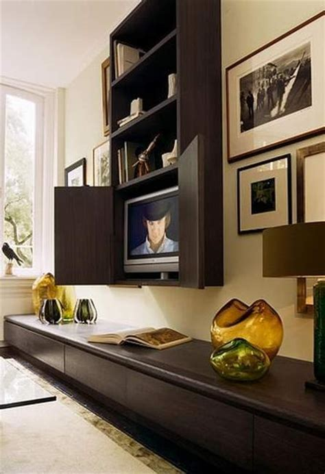 modern ideas  hide tvs  hinged  sliding doors