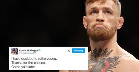 conor mcgregor retired star sends fans  meltdown