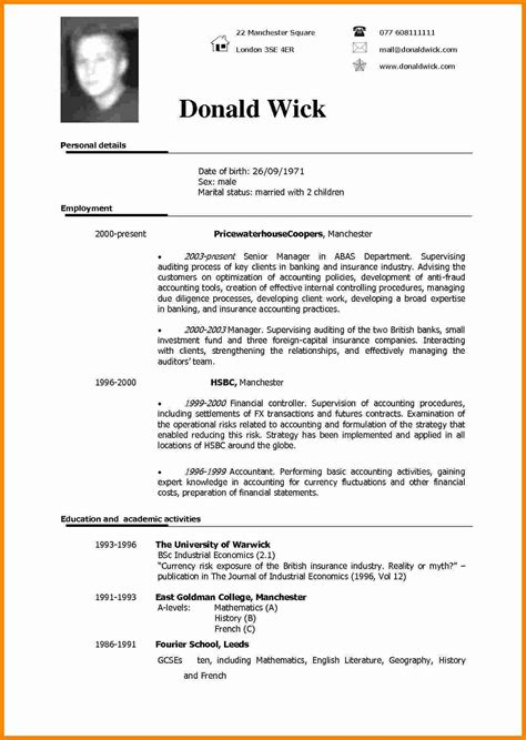 Best Cv Templates 2012 by 5 Cv Sle In Theorynpractice
