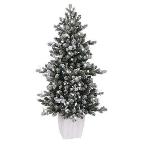 ge alaskan fir flocked pre lit tree shop ge 4 ft pre lit colorado spruce slim flocked artificial tree at lowe s canada