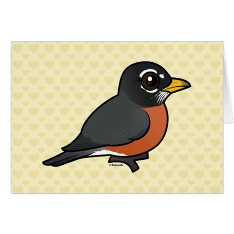 cartoon american robin greeting card cute bird gifts