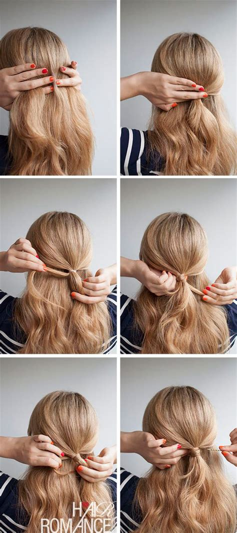 simple up hair styles 22 easy half up hairstyle tutorials you to try gurl 9057