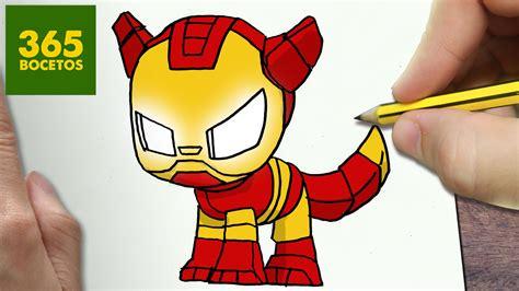 como dibujar perro iron man kawaii paso  paso dibujos kawaii faciles animales en