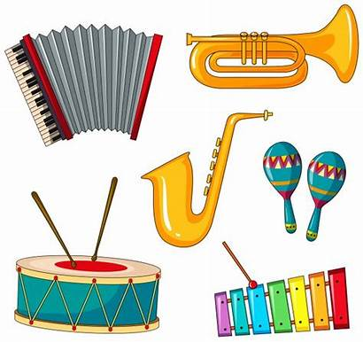 Instrument Types Musical Different Illustration Vector Instruments