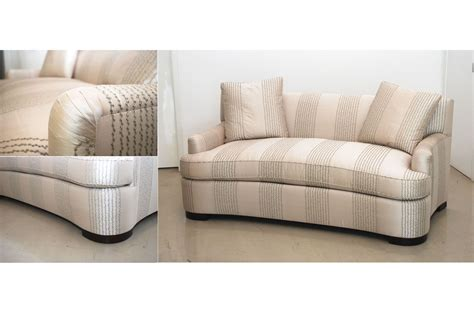 Curved Loveseat Sofa by Curved Sofa Custom Curved Loveseat Custom Sofas