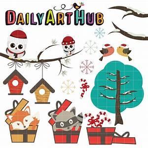 Cute Christmas Animals Clip Art Set | Daily Art Hub