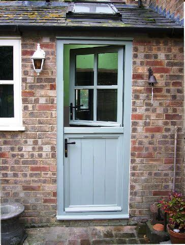 Wood Back Door With Window by Ellwood Stable Doors Traditional Bespoke Made