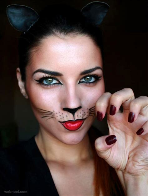 The Gallery For > Halloween Simple Cat Face Paint