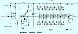 5200 Watt High Power Mosfet Amplifier