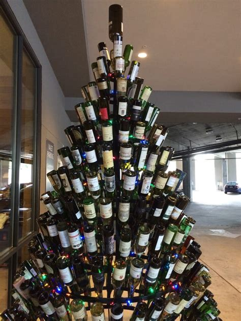 christmas tree made of wine bottles yelp