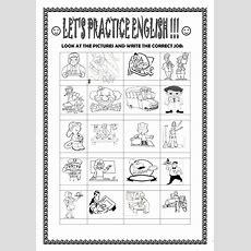 Basic Vocabulary Jobs , Adjectives , Days ,months Worksheet  Free Esl Printable Worksheets