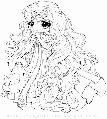 Chibi Coloring Pages Printable Anime Craft Friends