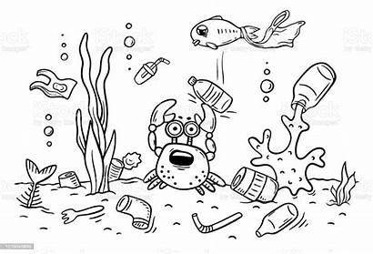 Pollution Ocean Animals Sea Plastics Coloring Suffer