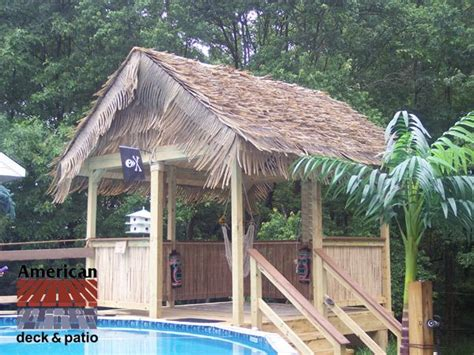 Tiki Hut Roof Construction by Harford County Md Tiki Hut Pool House Synthetic