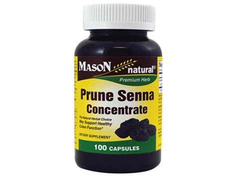 100 capsules prune senna laxative colon herbal cleanser
