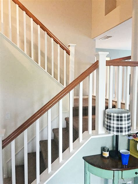 sanding banister spindles how to paint your stair railing and banister black