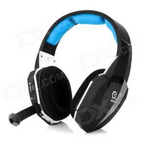 HUHD 2.4GHz Wireless Gaming Headband Headphone w/ Mic - Blue