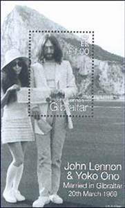 Absolute Elsewhere John And Yoko39s Wedding Archive Gibraltar Stamp 3