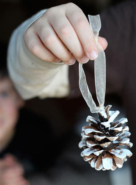 diy pine cone christmas ornaments flutter flutter pinecone ornament diy