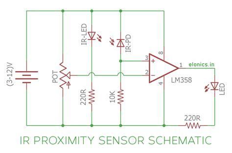 ir infrared proximity sensor obstacle detector circuit