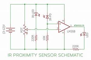 Ir  Infrared  Proximity Sensor    Obstacle Detector Circuit Using Lm358 Opamp
