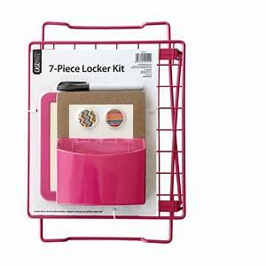 7-piece Locker Kit  Pink - Walmart Com