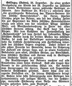 Texte Zur J U00fcdischen Geschichte In Gailingen  Kreis Konstanz