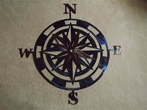 Handmade inch metal compass rose wall art by superior
