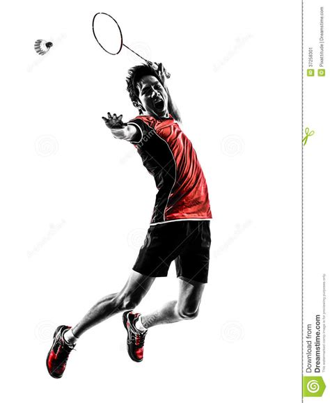 anime based on badminton badminton player silhouette stock image image