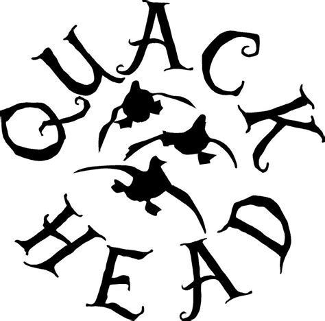 foto de Quack Head duck hunting sticker decal gun rifle truck bow