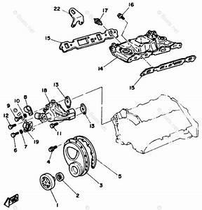 Yamaha Sterndrive Parts V6 4 3 Engine Yems 1989 Oem Parts