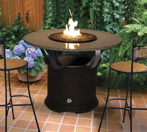 fire pit bar table fire pit table del mar bar height multifunctional